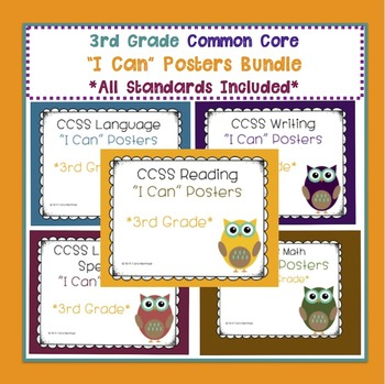 "Common Core ""I Can"" Posters Bundle {All 3rd Grade Standards}"