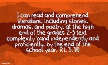 3rd Grade Common Core I Can Statements End of the Year Goals