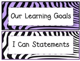 3rd Grade Common Core ELA and Math I Can Statements Purple