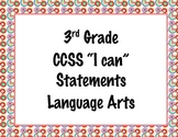 3rd Grade Common Core I Can Statements {Retro Circles Theme}