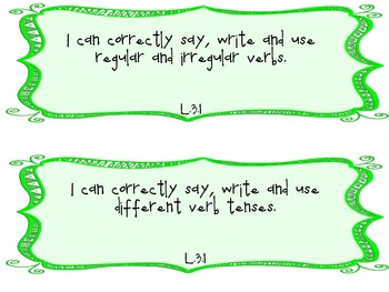 3rd Grade Common Core I Can Statements for Language