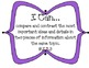 """3rd Grade Common Core """"I Can"""" Statements for Reading"""