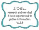 "3rd Grade Common Core ""I Can"" Statements for Writing"