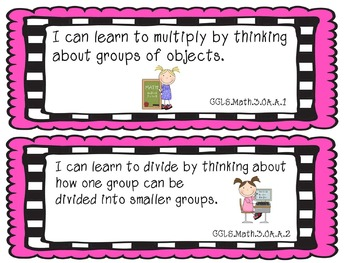 "3rd Grade Common Core ""I Can"" Statements in Kid Friendly Language"