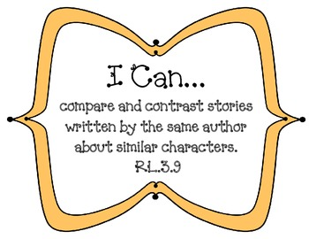 "3rd Grade Common Core ""I Can"" Statments for Reading"