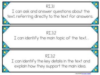 "3rd Grade Common Core ""I Can"" Student Friendly Statements"
