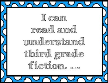 3rd Grade Common Core I can statements
