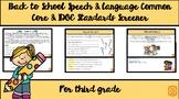 3rd Grade Common Core & IDOE Standards Speech & Language Screener