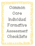 3rd Grade Common Core Individual Checklist for Data Binder