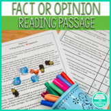 Fact or Opinion Reading Passage and Worksheets