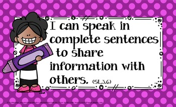 3rd Grade Common Core Language Arts Learning Target Posters