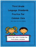 3rd Grade Common Core Language L3.1a -L3.2b Units 1-8, Depth of Knowledge