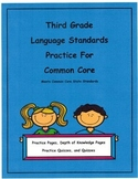 3rd Grade Common Core Language L3.2c - L3.6 Units 9-16 Depth of Knowledge