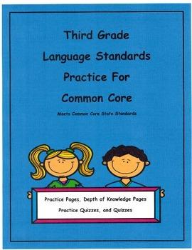 3rd Grade Common Core Language L3.2c - L3.6 Units 9-16 Depth of Knowledge