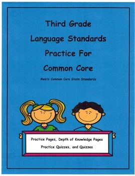 3rd Grade Common Core Language L3.4d Unit14 Depth of Knowledge