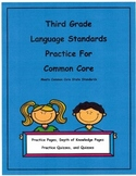 3rd Grade Common Core Language L3.5b L3.5c Unit16 Depth of Knowledge