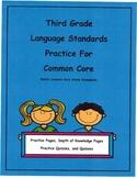 3rd Grade Context Clues and Prefixes Unit12  L3.4a L3.4b Depth of Knowledge