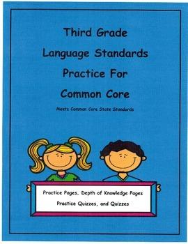 3rd Grade Common Core Language Practice Unit13 L3.4b L3.4c Depth of Knowledge
