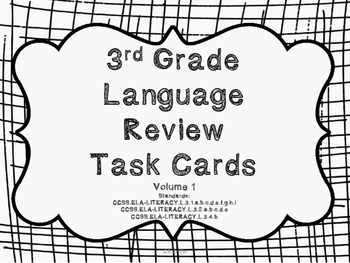 3rd Grade Common Core Language Review Bundle (4 task card sets)