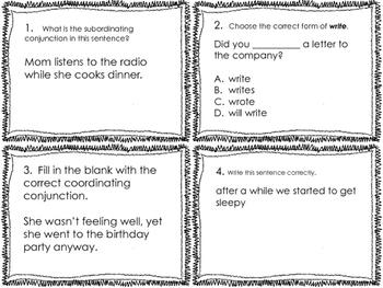 3rd Grade Common Core Language Review Set 4 Test Prep