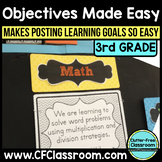 3rd Grade Common Core Learning Goals {Posters, Targets, Ob
