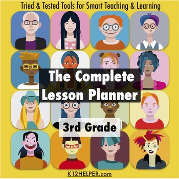3rd Grade Lesson Plan Template: All Subjects w/ Common Core & NGSS
