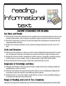 3rd Grade Common Core Literacy Checklists: Proficiency, Lessons, Assessments