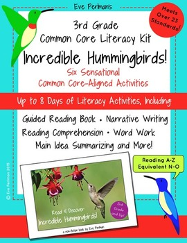 3rd Grade Common Core Literacy Kit: Incredible Hummingbirds! (No Prep!)