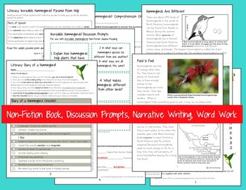 3rd Grade Common Core Literacy Kit: Incredible Hummingbirds! (No Prep!)