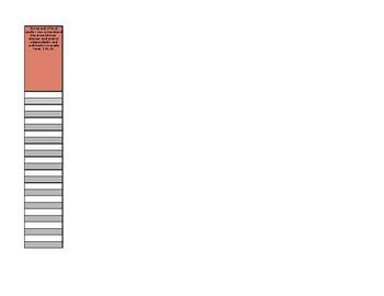 3rd Grade Common Core Literature Standards Checklist