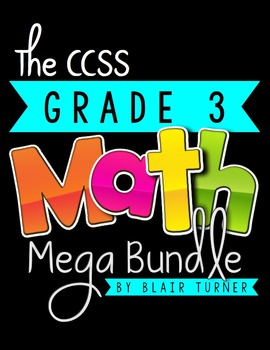3rd Grade Common Core MATH MEGA BUNDLE {Assessments & Task Cards For the Year}