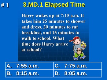 3rd Grade Common Core Math 3 MD.1 Elapsed Time Word Problems 3.MD.1