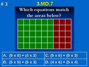 3rd Grade Common Core Math 3 MD.7 Measurement and Data 3.MD.7