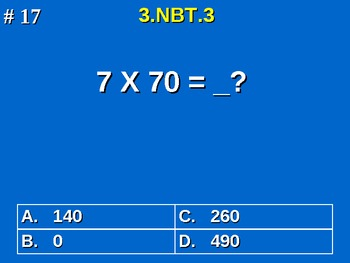 3rd Grade Common Core Math 3 NBT.3 Multiply By Multiples Of 10 3.NBT.3
