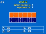 3rd Grade Common Core Math 3 NF.3 Equivalent Fractions 3.NF.3