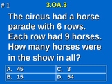 3rd Grade Common Core Math 3 OA.3 Equal Group Word Problems 3.OA.3