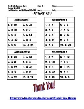 3rd Grade Common Core Math 3 OA.3 Equal Group Word Problems 3.OA.3 PDF
