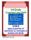 3rd Grade Common Core Math 3 OA.5 Apply Properties of Operations 3.OA.5 PDF