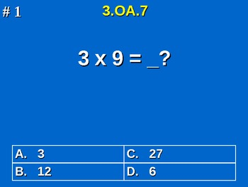3rd Grade Common Core Math 3 OA.7 Fluently Multiply & Divi