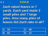 3rd Grade Common Core Math 3 OA.8 Solve Two-Step Word Problems 3.OA.8