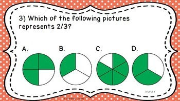 3rd Grade Math Review PowerPoint for Fractions Common Core 3rd Grade Test Prep