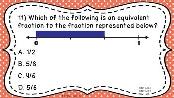 Fractions 3rd Grade Math Test Prep Common Core 3rd Grade Math Review PowerPoint