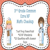 3rd Grade Math Review PowerPoint for Fractions Common Core