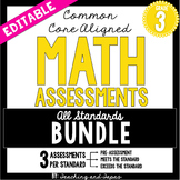 3rd Grade Common Core Math Assessment - ALL STANDARDS