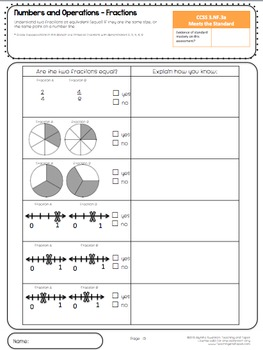 3rd Grade Common Core Math Assessment - Fractions