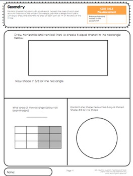 3rd Grade Common Core Math Assessment - Geometry