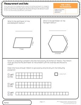 3rd grade common core math assessment measurement and data tpt. Black Bedroom Furniture Sets. Home Design Ideas