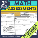 3rd Grade Math Assessments | Progress Monitoring | Quick C