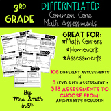 3rd Grade Common Core Math Assessments BUNDLE for the WHOLE YEAR!