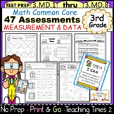 3rd Grade Common Core Math Assessments - Measurement and Data